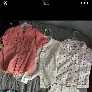 3 old navy size 5t boy shirts
